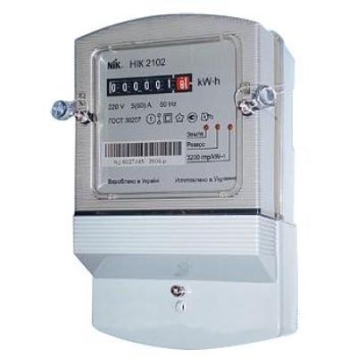 Электросчетчик нік 2102-02 5-60а м2в электронный однофазный.