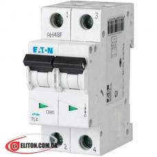 Автоматический выключатель двухполюсный Moeller/Eaton PL4 C