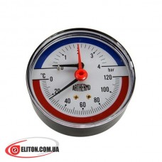 Термоманометр ARTHERMO TI003 0-120 °C, 0-4 Bar
