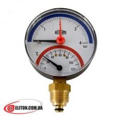 Термоманометр ARTHERMO TI110 0-120 °C, 0-4 Bar